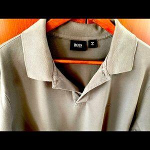 Hugo Boss gray cotton polo tshirt short sleeve XXL